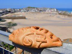 A Cornish pasty with G7 written on it (PA)