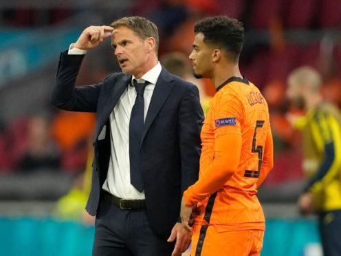 Holland coach Frank De Boer was not happy with his side's errors in the 3-2 win over Ukraine (Peter Dejong/AP)