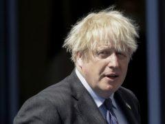 Prime Minister Boris Johnson arrives at the Nato summit (Olivier Hoslet/AP)