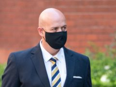 West Mercia Police constable Benjamin Monk arrives at Birmingham Crown Court where he is accused of the murder, and an alternative charge of manslaughter, of former footballer Dalian Atkinson in Telford, Shropshire, on August 15, 2016. Picture date: Monday June 14, 2021.