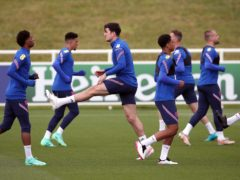 Harry Maguire (centre) trained again with England (Nick Potts/PA)