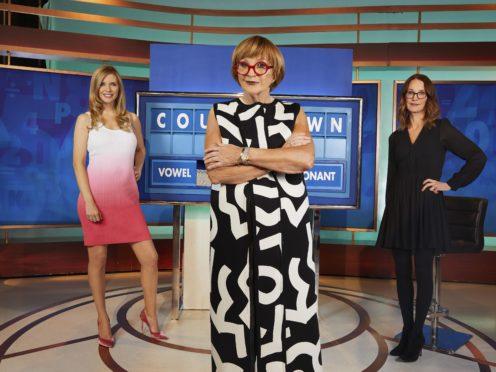 Countdown's Rachel Riley, Anne Robinson, and Susie Dent (Rachel Joseph/Channel 4/PA)