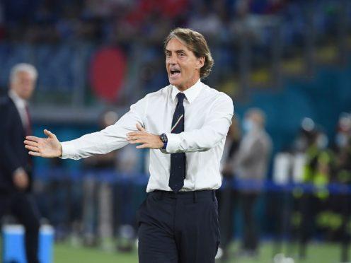 Roberto Mancini's side are into the last 16 (Ettore Ferrari/PA)