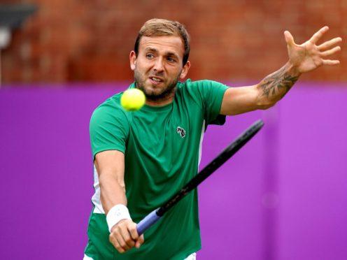 Dan Evans lost in straight sets to Matteo Berrettini (John Walton/PA)