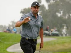Richard Bland set the clubhouse target on day two of the 121st US Open (Marcio Jose Sanchez/AP)