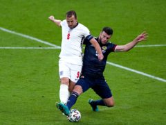 England's Harry Kane was frustrated by the Scottish defence at Wembley (Mike Egerton/PA)