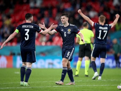 Scotland gave themselves a chance of progress with their Wembley point (Nick Potts/PA)