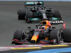 Max Verstappen, front, edged Lewis Hamilton for victory in France (Francois Mori/AP)