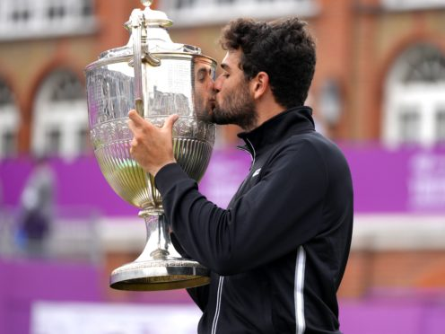 Matteo Berrettini win the title with a three-sets victory over Cameron Norrie (John Walton/PA)