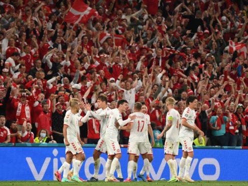 Denmark are through to the last 16 (Jonathan Nackstrand/AP)