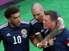 Scotland's Callum McGregor, right, scored against Croatia but it proved in vain (Jane Barlow/PA)