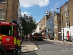 A fire has broken out at a pub in central London owned by film director Guy Ritchie (ViperUKMedia/Twitter/PA).