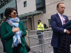 Health Secretary Matt Hancock is accused of having an affair with adviser Gina Coladangelo (Yui Mok/PA)