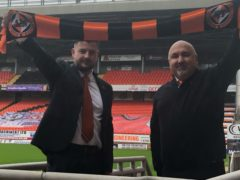 New Dundee United boss Thomas Courts (left) is expected to deliver a top-six finish within 12 months (Andy Newport/PA)