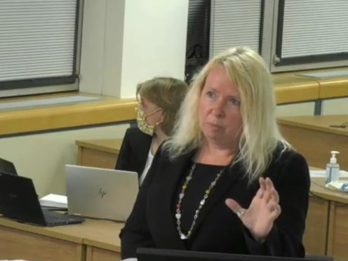 Lead counsel Jenni Richards QC gives a presentation of evidence to Infected Blood Inquiry (Infected Blood Inquiry/PA)