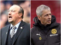 Rafael Benitez and Lucien Favre have been linked to Premier League clubs (Steve Paston/John Walton/PA)