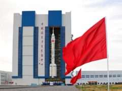 A three-man crew is due to blast off for a mission on China's new space station (Wang Jiangbo/Xinhua via AP)