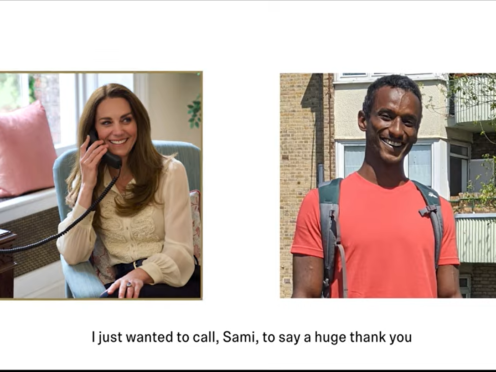 The Duchess of Cambridge held a phone conversation with Sami (Kensington Palace/PA)