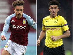 Jack Grealish, left, and Jadon Sancho could be moving to Manchester, according to the transfer gossip file (Adam Davy/Carl Recine/PA)