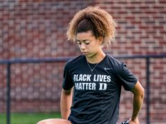England Under-21 hockey player Darcy Bourne has become an anti-racism activist (Dukes Athletic Photography)