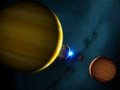 The death of the star in the HR 8799 system will have a huge knock-on effect for its planets (University of Warwick/Mark Garlick)