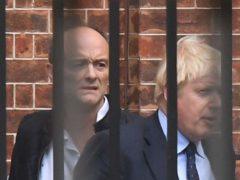 Boris Johnson with Dominic Cummings (Victoria Jones/PA)