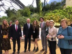 Daisy Clark, centre, lived out the 'surreal' experience of playing for the President of the United States, the Prime Minister and other world leaders gathered for the G7 summit (Alex Sutton PR/PA)