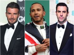 David Beckham, Lewis Hamilton and Sacha Baron Cohen are among the stars to have condemned the racist abuse directed at England's black players following their Euro 2020 final defeat (PA)