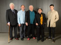 Tom Baker, Peter Davison, Colin Baker, Sylvester McCoy and Matt Smith (Dominic Lipinski/PA)