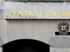 A sign at the Central Criminal Court in London (Nick Ansell/PA)