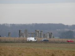 Traffic passes Stonehenge on the A303 road in Wiltshire (Steve Parsons/PA)