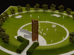A model of the new UK Police Memorial (Joe Giddens/PA)