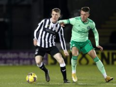 Jake Doyle-Hayes (left) in action for St Mirren (Andrew Milligan/PA)
