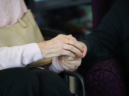 Staff in older care homes are classed as eligible for the vaccine if they have not tested positive for Covid-19 in the previous 28 days (Aaron Chown/PA)