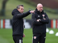 Albert Stuivenberg (left) has left his role as assistant coach to the Wales national team (Nick Potts/PA)