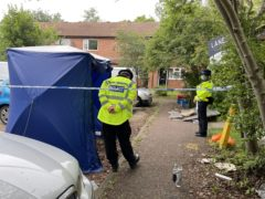 Police at the scene in Denmead (Bronwen Weatherby/PA)
