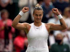 Aryna Sabalenka is enjoying a best ever run at Wimbledon (Steven Paston/PA)
