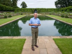 Graham Dillamore, Deputy Head of Gardens and Estates at Historic Royal Palaces, after the unveiling of a statue of Diana, Princess of Wales, in the Sunken Garden at Kensington Palace, Londony. Picture date: Thursday July 1, 2021.