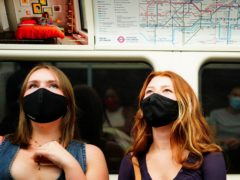 Face coverings should remain compulsory on public transport after the end of the Government's road map out of lockdown, a trade union has claimed (Victoria Jones/PA)