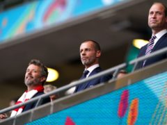 UEFA president Aleksander Ceferin, centre, says he is against a repeat of a Euros spread across the continent (Mike Egerton/PA)