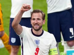 David Beckham, Dua Lipa and Adele were among the famous faces celebrating England's historic Euro 2020 semi-final victory over Denmark secured by Harry Kane's goal (Mike Egerton/PA)