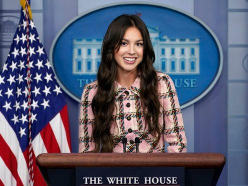 Olivia Rodrigo at the White House (Susan Walsh/AP)