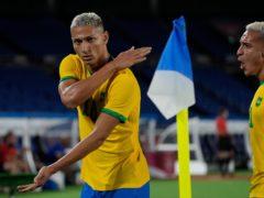 Brazil's Richarlison scored a first-half hat-trick against Germany (Kiichiro Sato/AP)