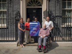 Campaigners handing in an Age UK Social Care petition and letter at 10 Downing Street (Jamie Lau/Age UK)