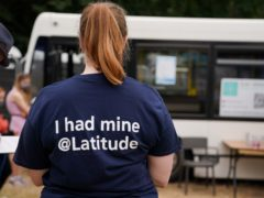 A vaccination bus has been set up at the Latitude Festival (Jacob King/PA)