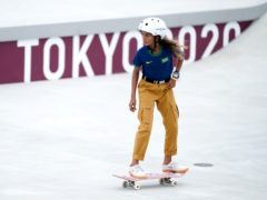 Brazil's Rayssa Leal during the Women's Street Prelims Heat 4 at the Ariake Urban Sports Park on the third day of the Tokyo 2020 Olympic Games in Japan. Picture date: Monday July 26, 2021.