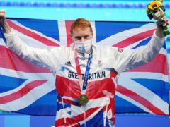 Tom Dean won Olympic gold on Tuesday (Joe Giddens/PA)