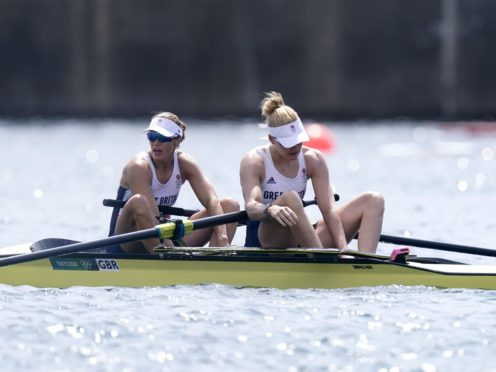 Great Britain's Helen Glover and Polly Swann finished fourth. (Danny Lawson/PA)