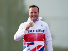 Matthew Coward-Holley poses with his bronze medal (Mike Egerton/PA)