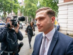 Lewis Hughes, 23, arrives at Westminster Magistrates' Court in London, where he is charged with common assault, after the Chief Medical Officer for England Chris Whitty, was accosted in St James's Park, central London, on Sunday June 27. Picture date: Friday July 30, 2021.